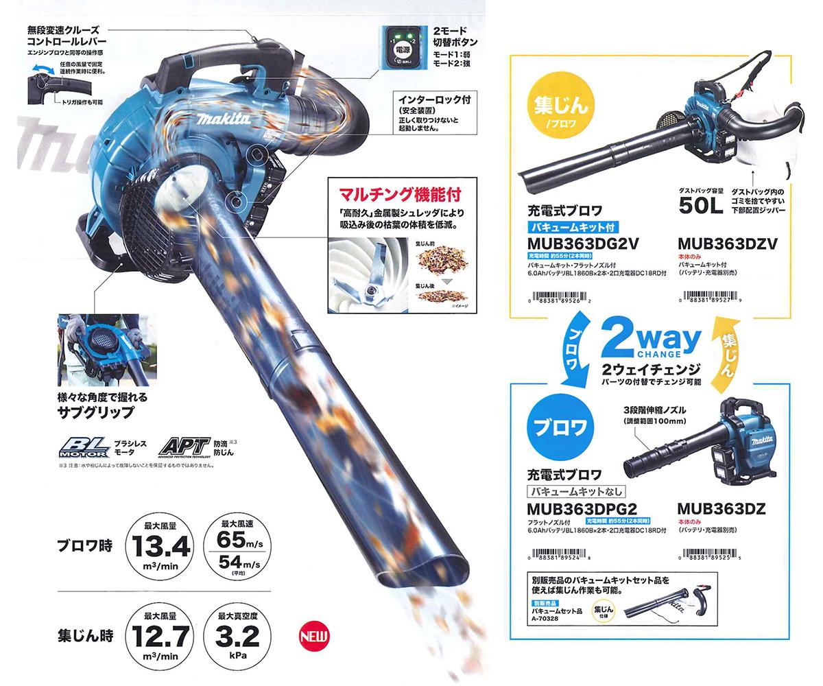 MUB363D 様々な便利機能を搭載